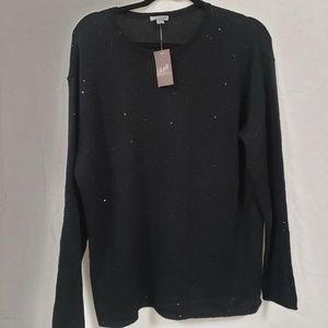 New tags J. JILL black sequined scoop neck sweater
